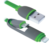 Кабель Defender USB10-03BP USB-microUSB/Lightning 1м (87489)
